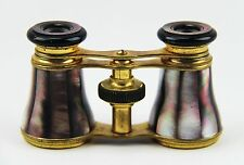 ANTIQUE FRENCH OPERA GLASSES WITH DARK RAINBOW MOTHER OF PEARL # 50