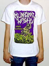 """Municipal Waste """"Massive Aggressive"""" White T Shirt"""