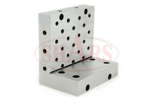 """SHARS Angle Plate 6x6x4x1-1/4"""" Precision Steel Ground 0.0002"""" w. Tapped Holes R}"""