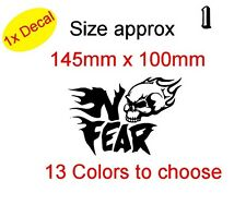 Calavera En No Fear! de vinilo gráfico Decal Sticker Auto, Laptop Bike etc. (Ref 1)