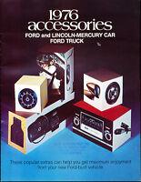 1976 Mercury Lincoln Accessories Sales Brochure Cougar Continental Marquis