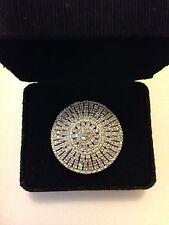 Fabulously Huge & Striking Layered Diamond Dome Size 7 Ring  (#115)