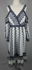 Forever New NWT Lucky Cold Shoulder Embroidered Floral Midi Dress Size Au 14