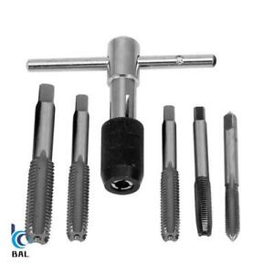 M3 M4 M5 M6 M8 Wrench Set T Handle Thread Ratchet & Tap Repair Tool 6pcs