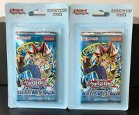 (2) YuGiOh LEGEND OF BLUE EYES WHITE DRAGON LOB Sealed Blister Booster Packs