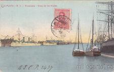 * ARGENTINA - La Plata - Ensenada, Vista de los diques 1918
