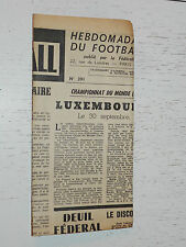FRANCE FOOTBALL OFFICIEL HEBDOMADAIRE FFF N°391 15/09 1953
