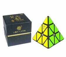 YuXin HuangLong Pyraminx M Magnetic Black Speed Cube Ship from USA