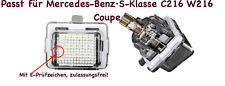 2x TOP LED SMD Kennzeichenbeleuchtung Mercedes-Benz·S-Klasse C216 W216 Coupe 412