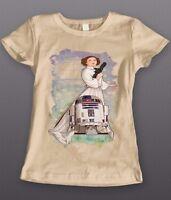 OLDSKOOL CUSTOM ARTWORK *STAR WARS PRINCESS LEIA R2D2* WOMENS Shirt *
