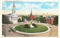 Postcard Thomas Circle Washington DC