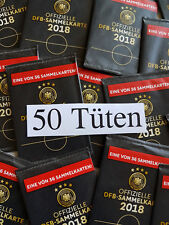 Rewe WM 2018 DFB Russland Russia Sammelkarten - 50 Karten - Tüten Glitzer Ovp