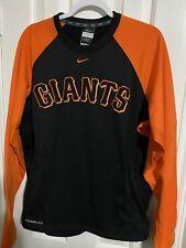 Nike Dri Fit San Francisco Giants MLB Medium Black & Orange Long Sleeve