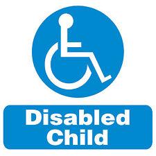 Disabled Child. Car/Van Window stickers x 2. size 100x100mm.
