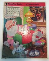 Vintage 1970s Letters to Santa frame tray puzzle, from Rainbow Works