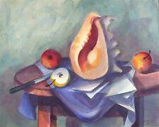 KLAUS DRECHSLER - ATELIERTISCH I (ÄPFEL UND MEERESSCHNECKE) - Aquarell 2015
