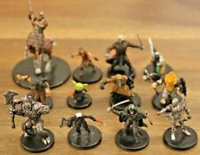 Uncommon Race Character Miniature Lot 12 D&D Pathfinder Warforged Tiefling Drow