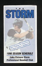 Lake Elsinore Storm--1996 Pocket Schedule--Blockbuster Video