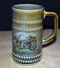 NICE! WADE IRISH PORCELAIN IRISH JAUNTING-CAR BEER MUG – STEIN – MADE IN IRELAND