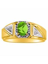 Diamond & Peridot Ring 14K Yellow or 14K White Gold MR3031PEY-C