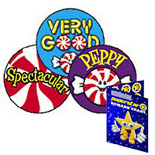 60 Scratch & Sniff Peppy Peppermints Peppermint Scented Reward Stickers & Chart