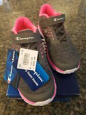 New listing Nib Girls Champion Sneaker Dark Gray/Pink Size 12