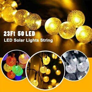 Outdoor Solar String Light 50 LED Bulb Patio Garden Yard Wedding Party Decor