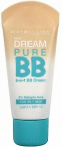 MAYBELLINE Dream Pure 8 in 1 BB Cream 30ml LIGHT - NEW Sealed