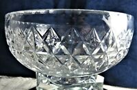 "VINTAGE ""TUDOR"" LEAD CRYSTAL CUT GLASS FRUIT BOWL LARGE HEAVEY"