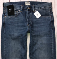 Mens EDWIN ED-80 Jeans W30 L32 Blue Slim Tapered Fit