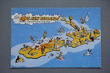 R&L Postcard: We LOve New Zealand Map