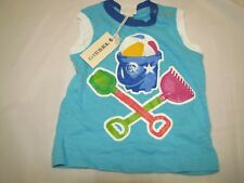 BABY BOY DIESEL TANK TOP SHIRT BEACH BALL SANDCASTLE PAIL SHOVEL 6-9 NEW