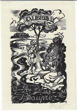 LUC DE JAEGHER: Exlibris für G. A. Beauprez