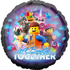 Lego Movie Party Foil Balloon Decoration Lets Build Together Lego Party Supplies