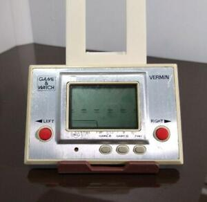 GAME & WATCH VERMIN 1980 LSI Screen Retro Game JAPAN Tested Working