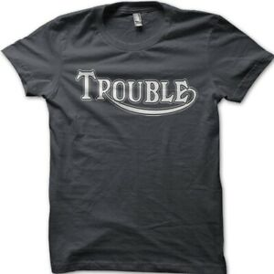 Trouble Triumph inspired Motorcycle Biker printed cotton t-shirt 9070