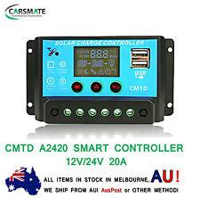 CMTD 12V 24V 20A LCD Display PWM Solar Panel Battery Regulator Charge Controller