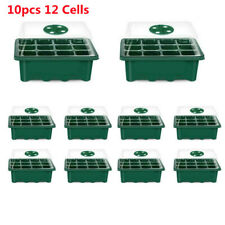 More details for 10pcs 12 cells plant propagator seeding trays seed seedling starter tray pots uk