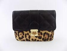 INC Jehnna Q Black Belt Bag Leopard Convertible Handbag