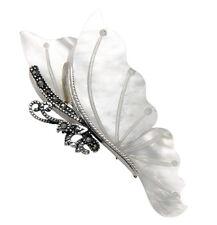 Delicate Sterling Silver & Marcasite Butterfly Pin w/MOP Shell Wings - MPN73