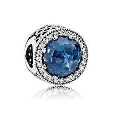 MIDNIGHT BLUE Radiant Hearts PANDORA Charm Silver ALE S925 791725NMB RRP £65