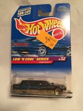 HOT WHEELS LOW N COOL SERIES LIMOZEEN #716 BLACK WITH GRAPHICS NEW ON CARD