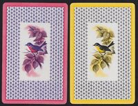 2 Single VINTAGE Swap/Playing Cards BIRDS ROBIN on BRANCH ID 'SONGSTER BI-8-74'