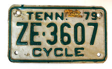 1979 Tennessee Motorcycle License Plate Cycle ZE-3607