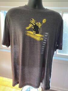 Throwback Retro Pittsburgh Steelers Logo NFL Licensed T Shirt Mens Sz L Fanatics