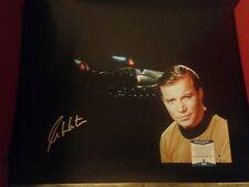 "William Shatner Signed Star Trek 23.5""× 31.25"" Photo On Canvas BECKETT COA"