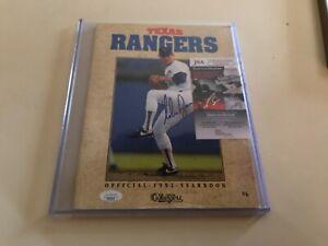 Jsa certified Nolan Ryan Autographed 1992 Texas Rangers MLB Baseball Yearbook