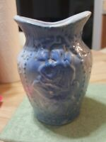 "Antique Salt Glaze-Blue Pottery/Crockery-""Roses""-Toothbrush Holder-RARE!"