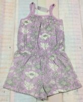 Baby Gap Girls 4 / 4T Purple Floral Shorts Romper. Nwt
