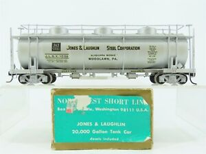 HO Brass NWSL NorthWest Short Line JLSX Jones Laughlin Tank Car #1026 Custom